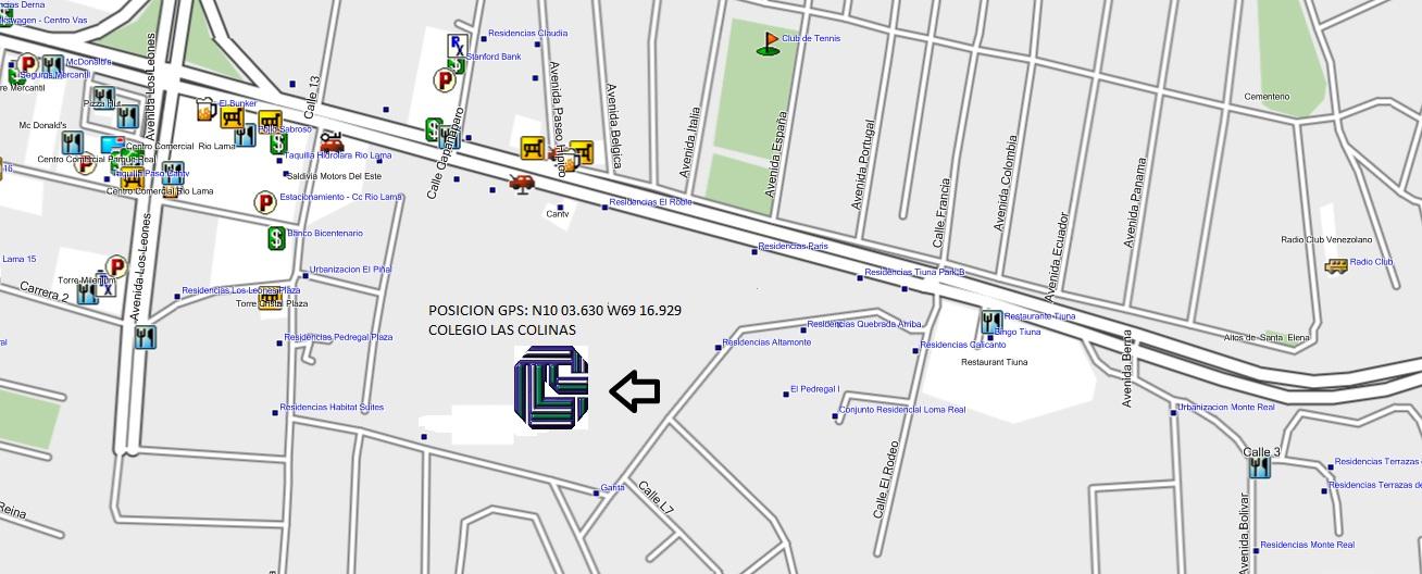 Colegio las colinas ubicaci n for Cafetin colegio las colinas